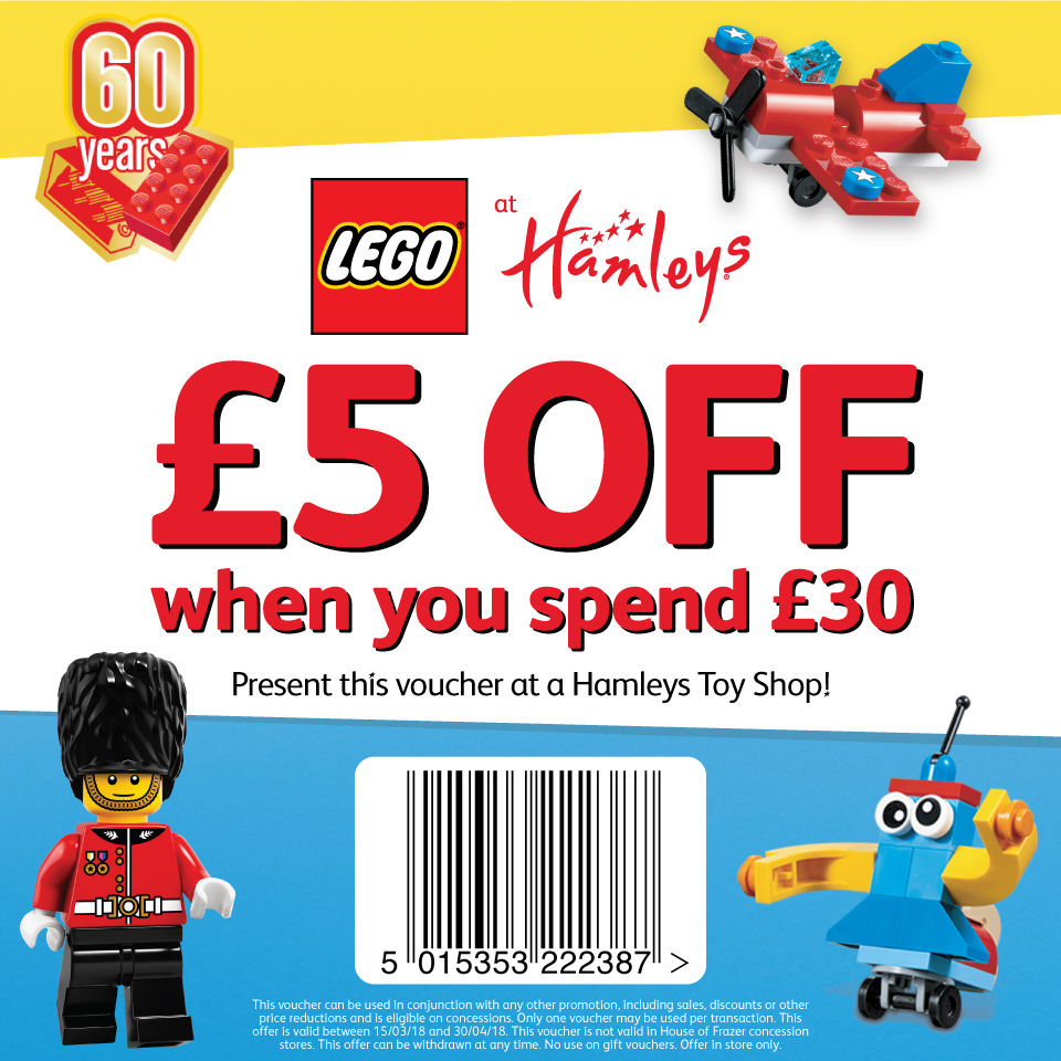 LEGO at Hamleys family days out, Lego discount voucher