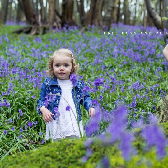 bluebell children's photography Bexley and Sevenoaks