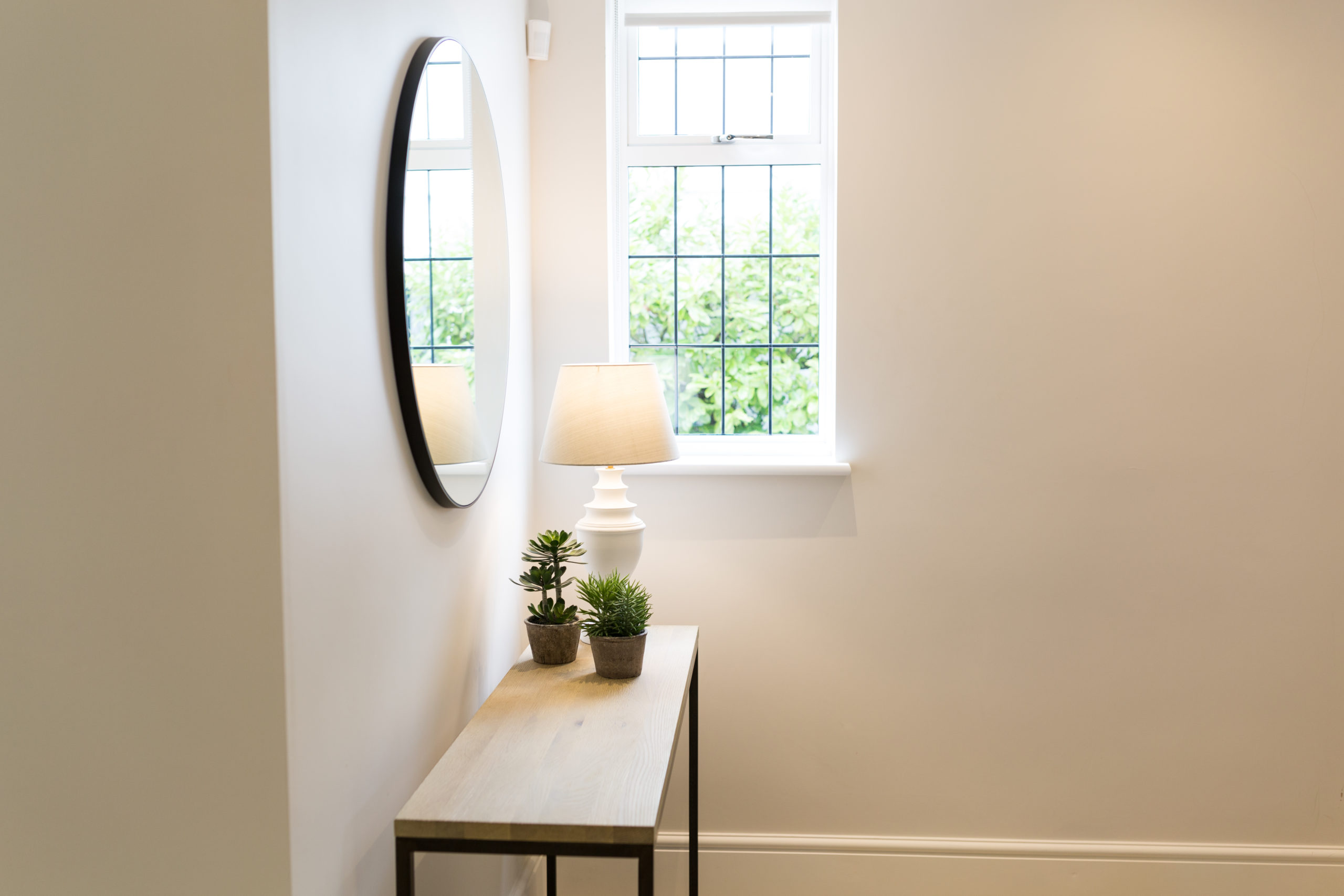 hall table and mirror at Kent interiors photoshoot for London interior designer IG interiors