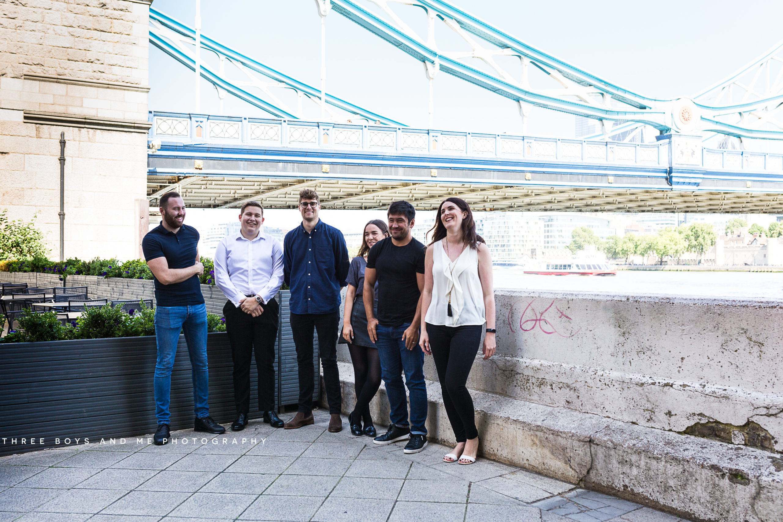 candid photograph of IT recruitment first taken by Tower Bridge London at their commercial photoshoot