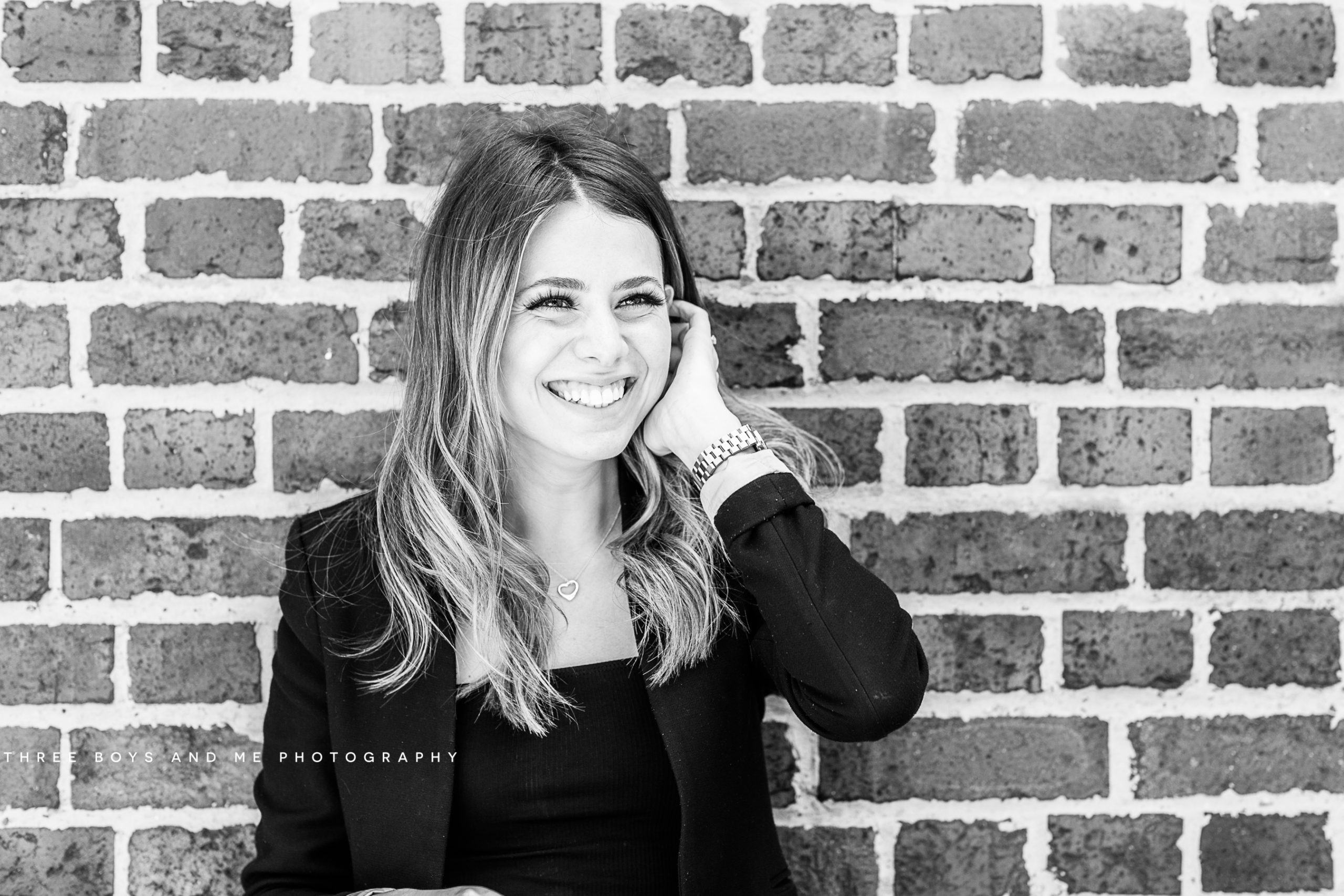 black and white quirky headshots taken on London commercial meet the team shoot