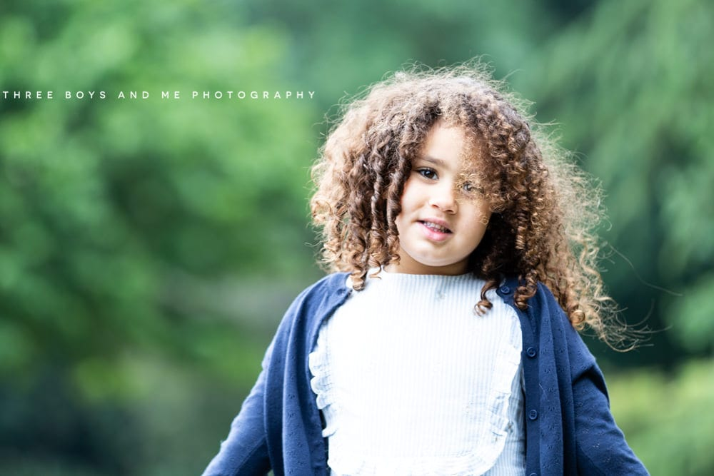 portrait of beautiful little girl shot at f2.8 in Bexley