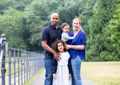 stunning family portrait shot taken during a natural photography session in Bexley