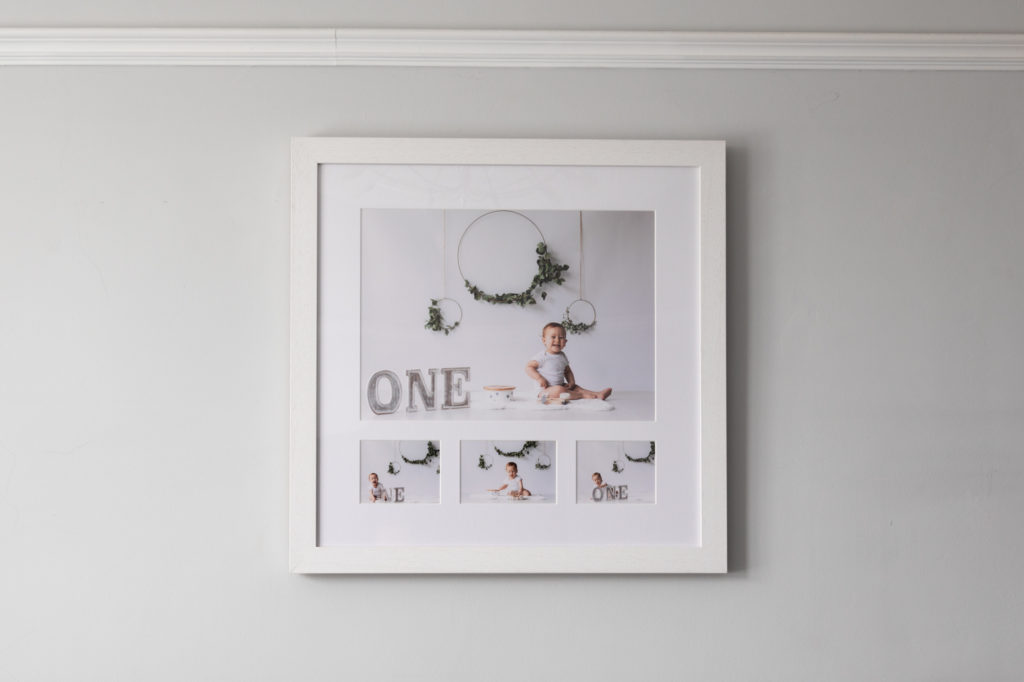 wall art available at your Kent cake smash photoshoot in Bexley