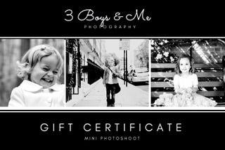 gift voucher for photoshoot  London